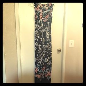 Long stretchy floral dress